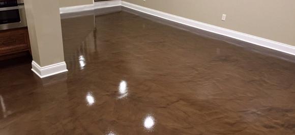 Brown Epoxy Metallic Floor